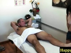 oriental masseuse sucks and bonks old dong