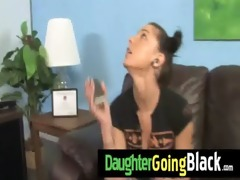see how my daughter is drilled by a dark dude 46