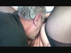 old big beautiful woman plays with old dude