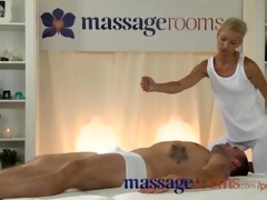 massage rooms excited juvenile blond takes a