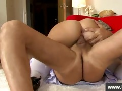 sexy golden-haired being screwed by an old stud