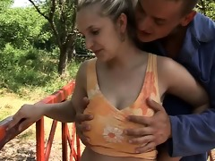 juvenile and breasty joanna fucking outdoors