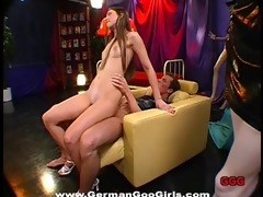 youthful bukkake whore receives her dark hole