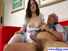 euro honey copulates and sucks his old dong
