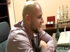breasty non-professional listens to the cash talk