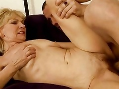 grandma enjoys hawt sex with her young paramour