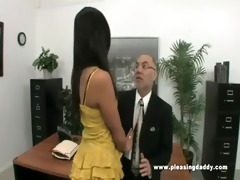 juvenile lascivious secretary copulates old boss