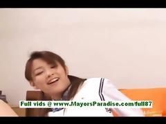 akane sakura youthful japanese schoolgirl in bed