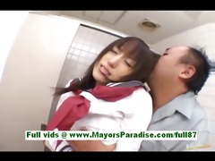 arisa kanno youthful japanese schoolgirl in the