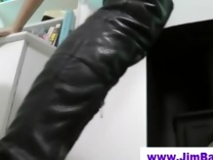 old fellow copulates british doxy in boots