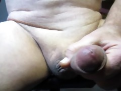 55 year old old man cums