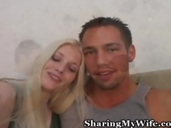 young pair in awesome wife sharing