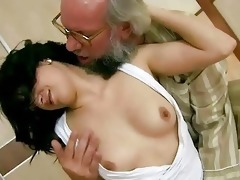 grandad fucks his youthful girlfriend