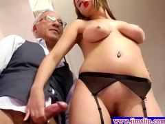 blond euro chicks anal pleasure with old guy