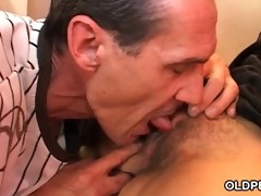 taut hirsute cum-hole riding schlong