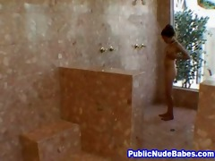 oriental blowjobs old guy in public shower