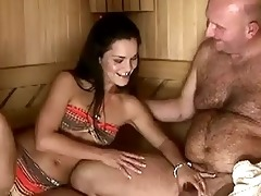 sandra rodriguez receives screwed by grandpapa