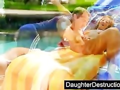 cute daughter drilled by impure man