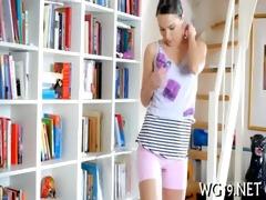 beauty is undressing on webcam
