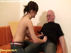 very cute beauty fucking an old man