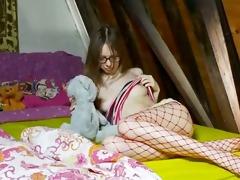 58 years old slender schoolmate teasing