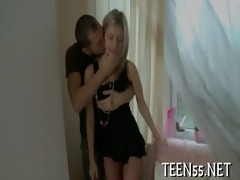 legal age teenager student rides mature rod