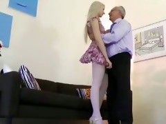 slutty blond hottie acquires pussy fucked form