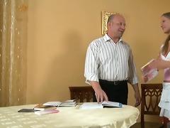 jizz flow lesson from elderly teacher