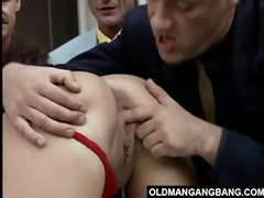 hot youthful black brown team-fucked by 9 old