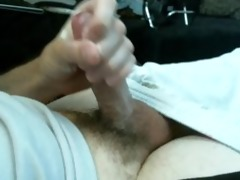 juvenile boy stroking his beautiful cock until