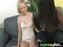 young daughter receives pounded by big dark knob