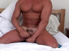 muscular str chap rock masturbating