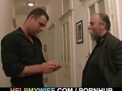 hopeless spouse pays a guy to fuck his wife