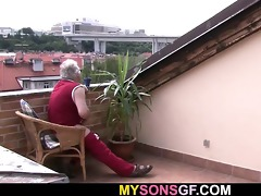 cute hotty cheats with her bfs old dad