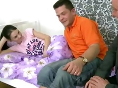 legal age teenager angel gets drilled by an old