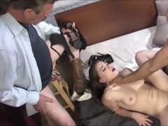 old cuckold eats black cum out of his white wifes