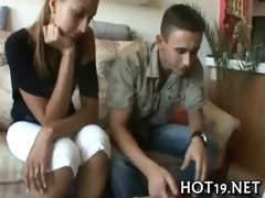 cute cutie acquires group-fucked