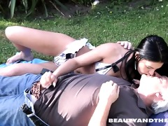 brunette hair legal age teenager acquires screwed