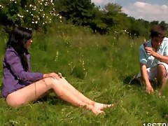 outdoors oral and spooning