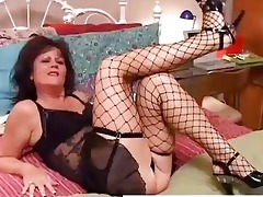 hot old spunker in nylons debella