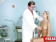 curly cum-hole blond used by freaky doctor