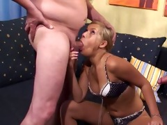 67y girlfriend alone in a room with 10 older