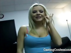 24 year old brie at first porn casting ever