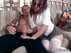 sexy juvenile doxy is getting team-fucked by
