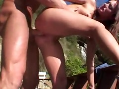 anal skank roughly used by bodybuilder