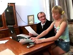 concupiscent schoolgirl bonks her teacher to