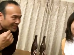 japanese wife sucks on a younger weenie