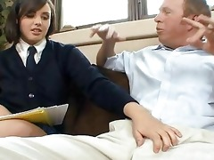 schoolgirl whores in skirts fucking old farts