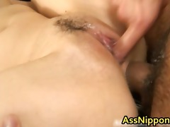 cute youthful oriental engulfing and acquires