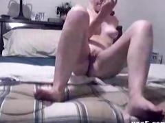 juvenile gal with a dildo